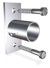 Stainless steel screw fixed lateral support for tubes