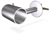 Stainless steel wall mounted straight support for tubes