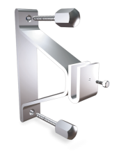 Stainless steel central bracket with back plate for plates