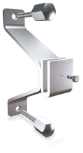 Stainless steel central bracket without back plate for plates
