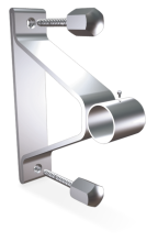 Stainless steel central bracket with back plate for tubes